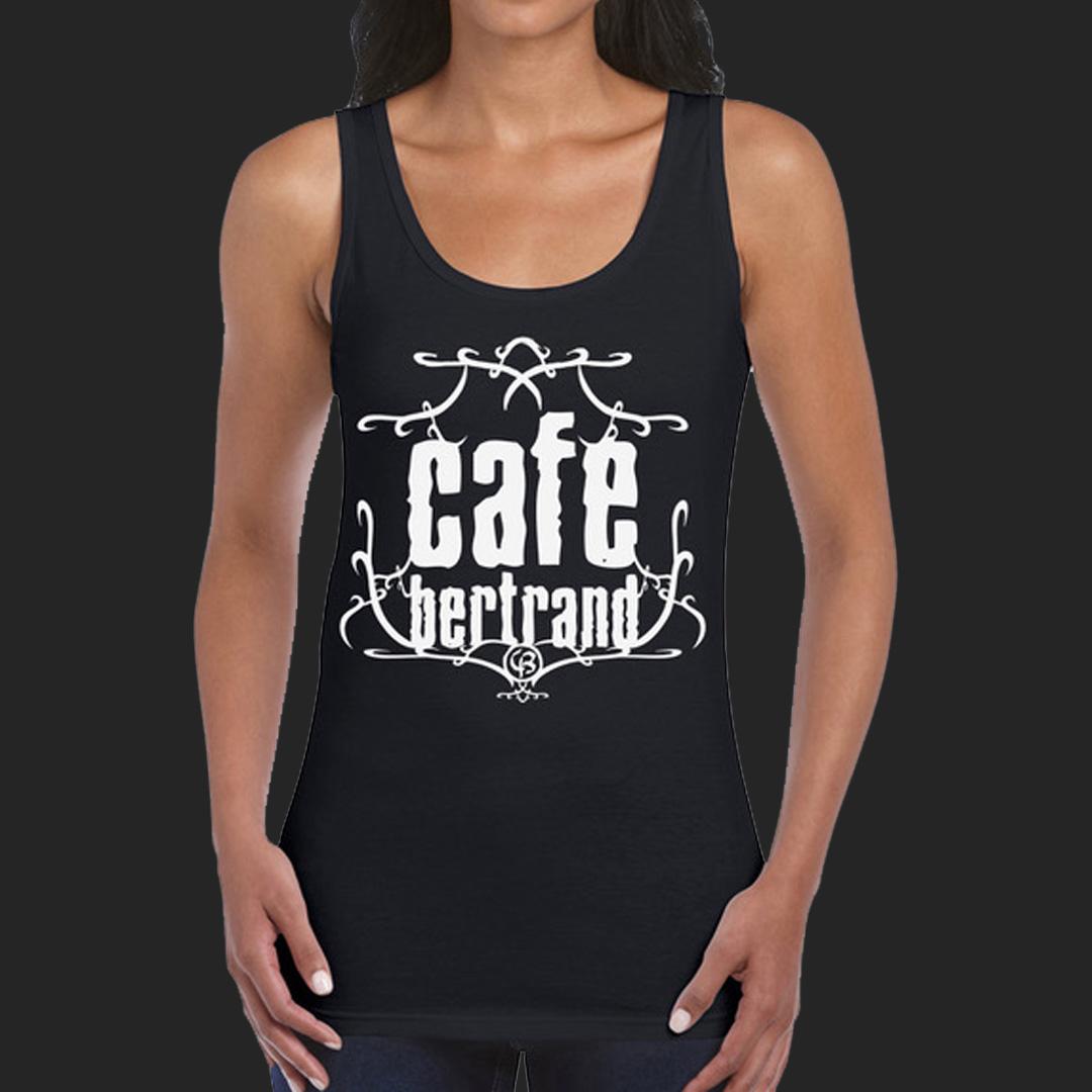 Café Bertrand T-shirt femme noir