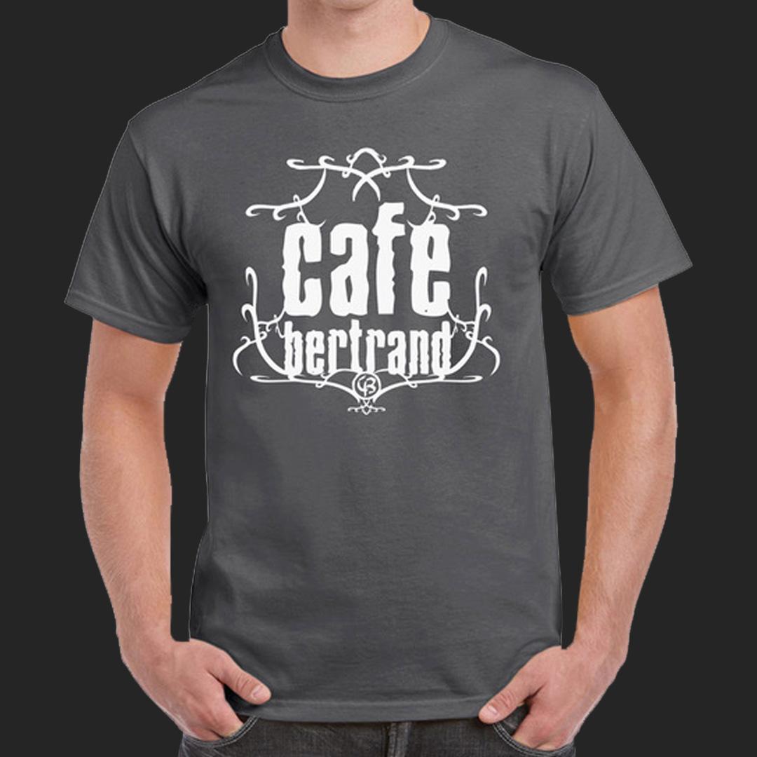 Café Bertrand thsirt homme gris